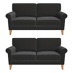 Debenhams - Set of two 2 seater chenille 'Arlo' sofas