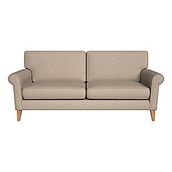 Debenhams - 3 seater textured weave 'Arlo' sofa