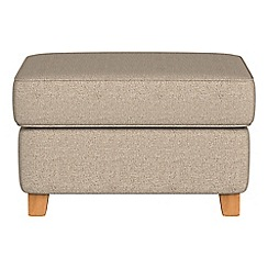 Debenhams - Textured fabric 'Arlo' storage footstool