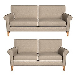 Debenhams - 3 seater and 2 seater textured weave 'Arlo' sofas