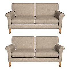 Debenhams - Set of two 2 seater textured weave 'Arlo' sofas