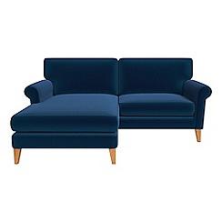 Debenhams - Velvet 'Arlo' chaise corner sofa