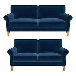 Debenhams - 3 seater and 2 seater velvet 'Arlo' sofas