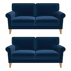 Debenhams - Set of two 2 seater velvet 'Arlo' sofas