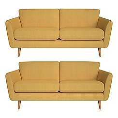 Debenhams - Set of two 3 seater tweedy fabric 'Isabella' sofas