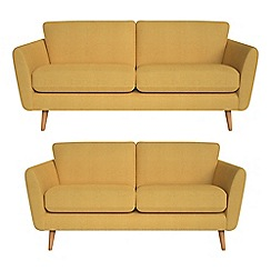 Debenhams - 3 seater and 2 seater tweedy fabric 'Isabella' sofas