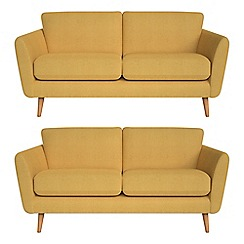 Debenhams - Set of two 2 seater tweedy fabric 'Isabella' sofas