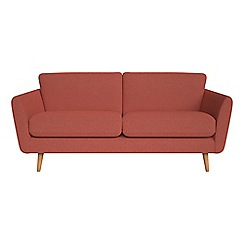 Debenhams - 3 seater flat weave fabric 'Isabella' sofa