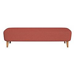 Debenhams - Flat weave fabric 'Isabella' footstool