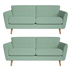 Debenhams - Set of two 3 seater flat weave fabric 'Isabella' sofas