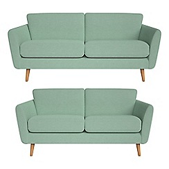Debenhams - 3 seater and 2 seater flat weave fabric 'Isabella' sofas