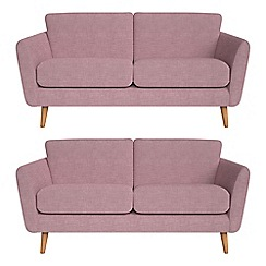 Debenhams - Set of two 2 seater brushed cotton 'Isabella' sofas