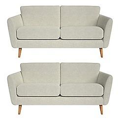 Debenhams - Set of two 2 seater brushed cotton 'Isabella' sofas