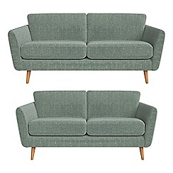 Debenhams - 3 seater and 2 seater chenille 'Isabella' sofas