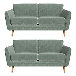 Debenhams - Set of two 2 seater chenille 'Isabella' sofas