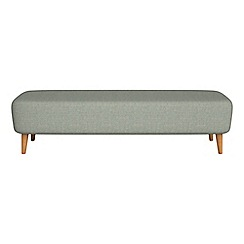 Debenhams - Textured fabric 'Isabella' footstool