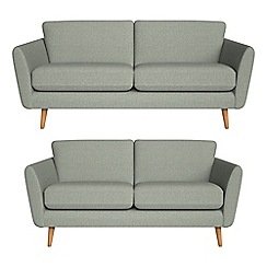 Debenhams - 3 seater and 2 seater textured weave 'Isabella' sofas