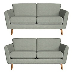 Debenhams - Set of two 2 seater textured weave 'Isabella' sofas