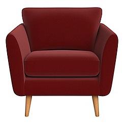Debenhams - Velvet 'Isabella' armchair