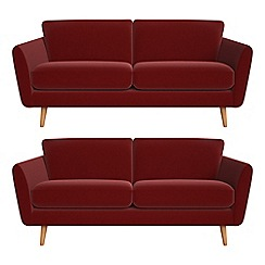 Debenhams - Set of two 3 seater velvet 'Isabella' sofas
