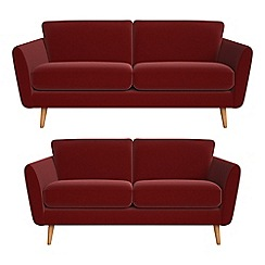 Debenhams - 3 seater and 2 seater velvet 'Isabella' sofas