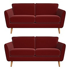 Debenhams - Set of two 2 seater velvet 'Isabella' sofas