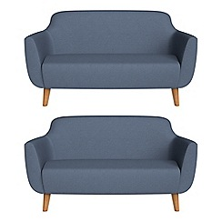 Ben de Lisi Home - Set of two 2 seater flat weave fabric 'Marco' sofas