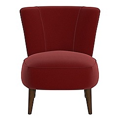 Debenhams - Velvet 'Boutique' accent chair