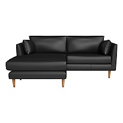 RJR.John Rocha - Luxury leather 'Ravello' chaise corner sofa