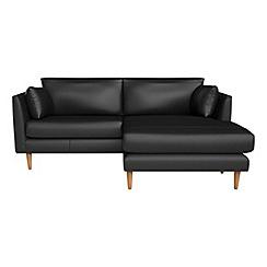 RJR.John Rocha - Luxury leather 'Ravello' chaise corner sofa