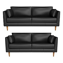 RJR.John Rocha - 3 seater and 2 seater luxury leather 'Ravello' sofas