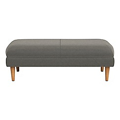 RJR.John Rocha - Natural grain leather 'Ravello' footstool