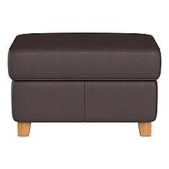 Debenhams - Luxury leather 'Arlo' storage footstool