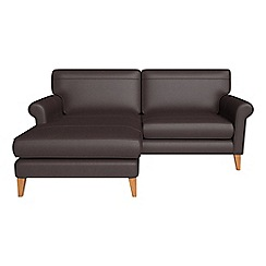 Debenhams - Luxury leather 'Arlo' chaise corner sofa