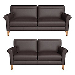 Debenhams - 3 seater and 2 seater luxury leather 'Arlo' sofas