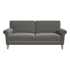 Debenhams - 3 seater natural grain leather 'Arlo' sofa