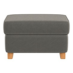 Debenhams - Natural grain leather 'Arlo' storage footstool