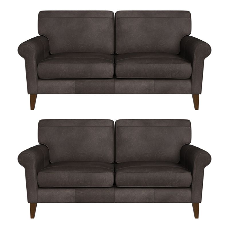 Debenhams Set of two 2 seater natural grain leather 'Arlo' sofas