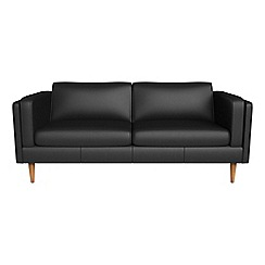 Debenhams - 3 seater luxury leather 'Lille' sofa