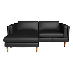 Debenhams - Luxury leather 'Lille' chaise corner sofa