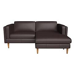 RJR.John Rocha - Luxury leather 'Lille' chaise corner sofa