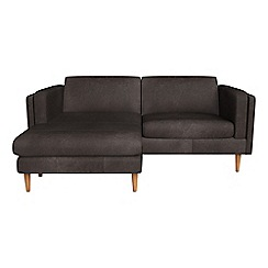 Debenhams - Natural grain leather 'Lille' chaise corner sofa
