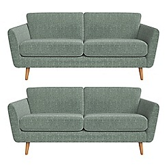 Debenhams - Set of two 3 seater chenille 'Isabella' sofas