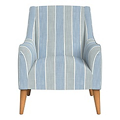 Debenhams - Striped brushed cotton 'Darcey' armchair