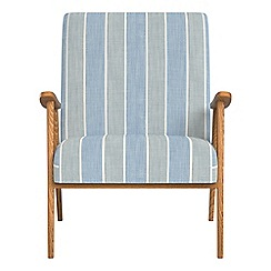 Debenhams - Striped brushed cotton 'Kempton' armchair