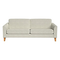 Debenhams - 3 seater brushed cotton 'Carnaby' sofa bed