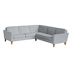 Debenhams - Brushed cotton 'Carnaby' corner sofa