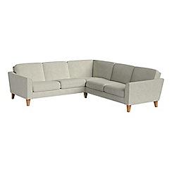 Debenhams - Brushed cotton 'Carnaby' corner sofa