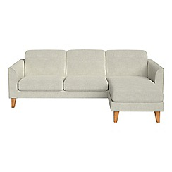 Debenhams - Brushed cotton 'Carnaby' right-hand facing chaise corner sofa