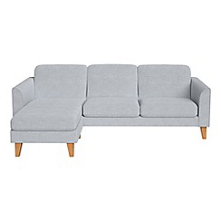 Debenhams - Brushed cotton 'Carnaby' left-hand facing chaise corner sofa